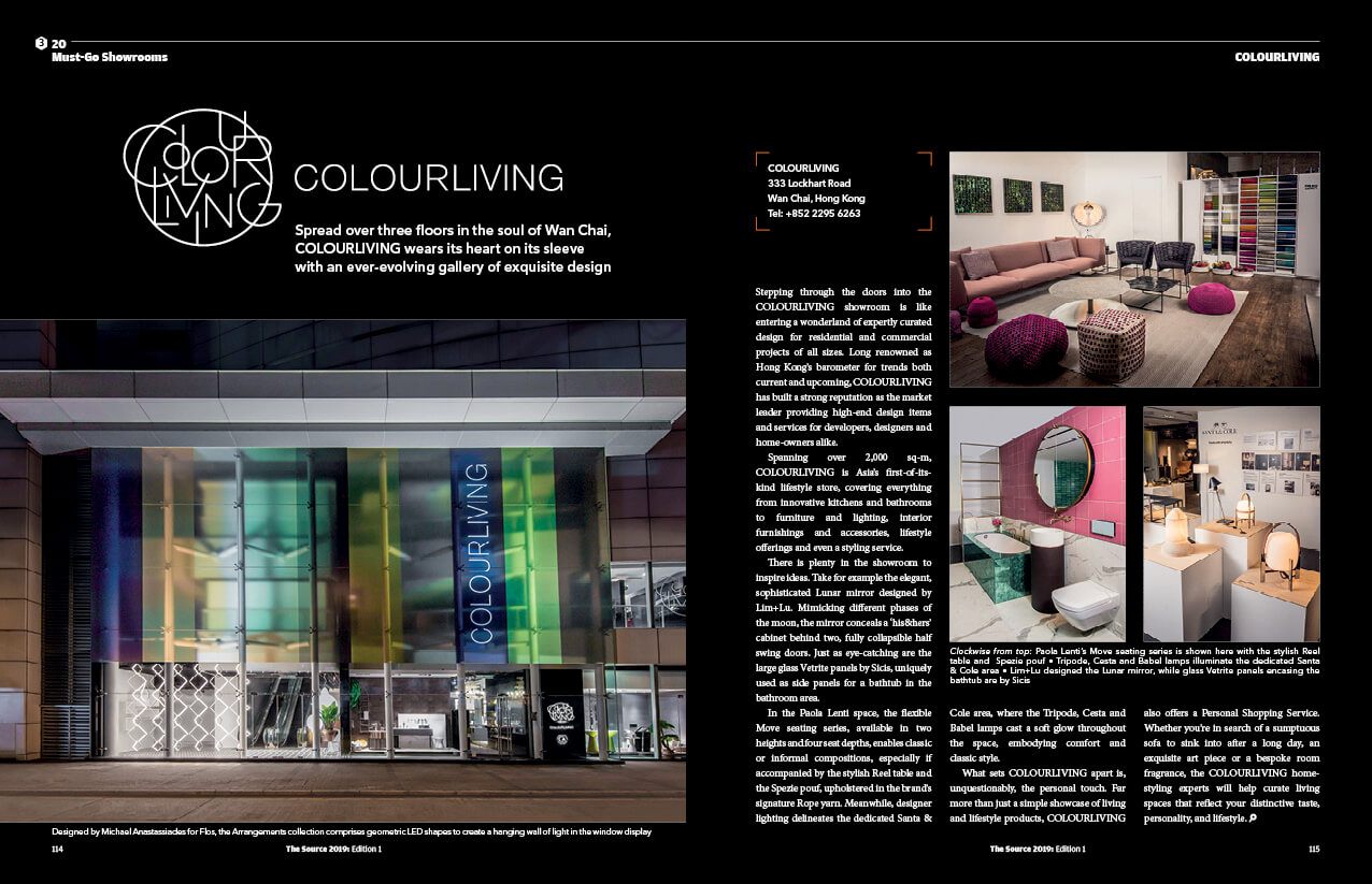 THE SOURCE homepage must go showroom colourliving - Home