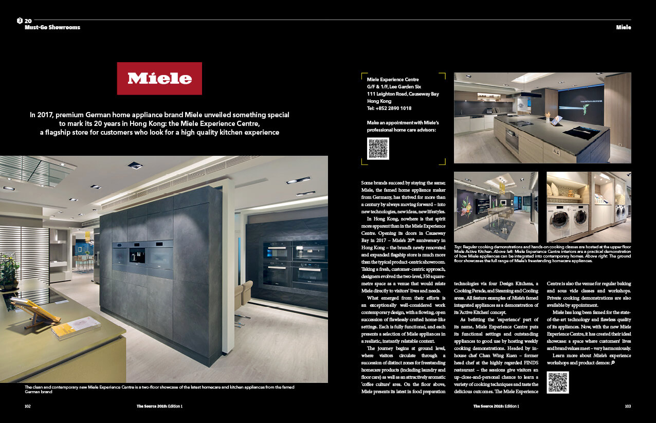 THE SOURCE homepage must go showroom miele layout - Home
