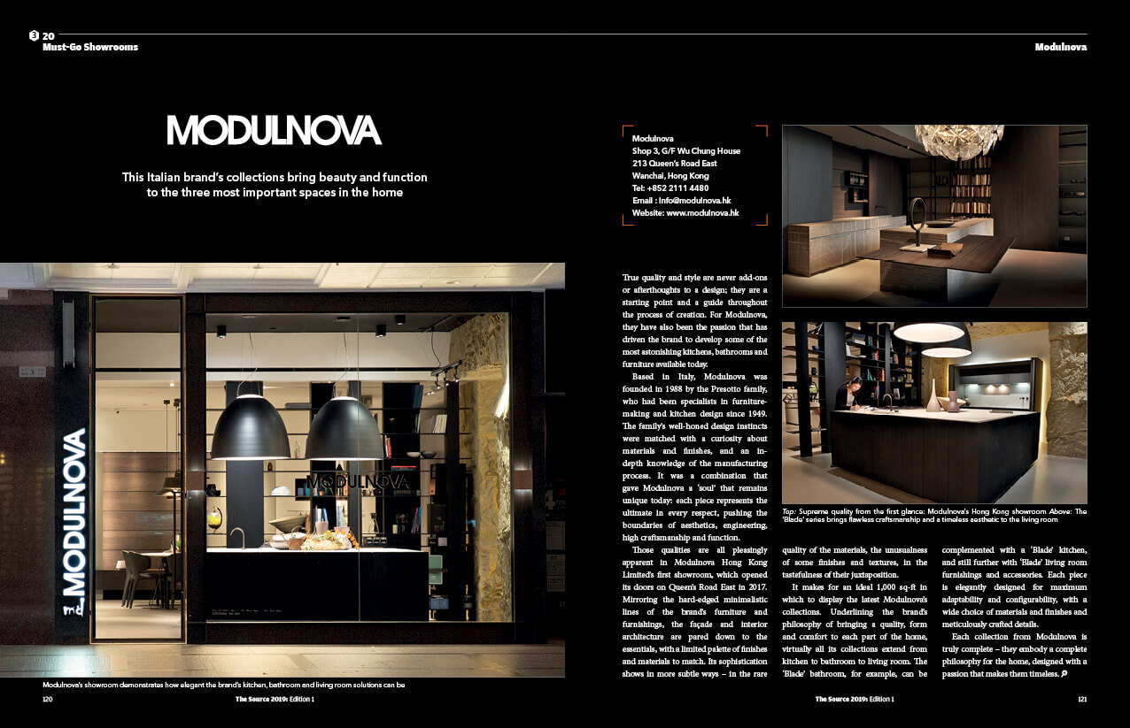 THE SOURCE homepage must go showroom modulnova - Home