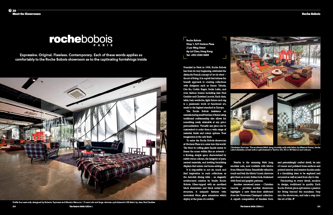 THE SOURCE homepage must go showroom roche bobois layout - Home
